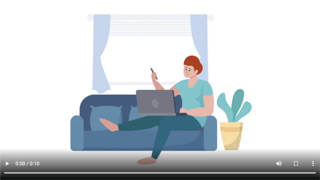 work from home animation